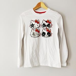 Hello Kitty x Kiss Rock Band t-shirt women's/kids